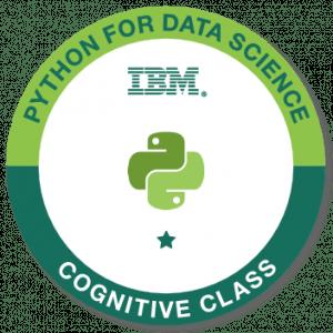 IBM python for data science badge